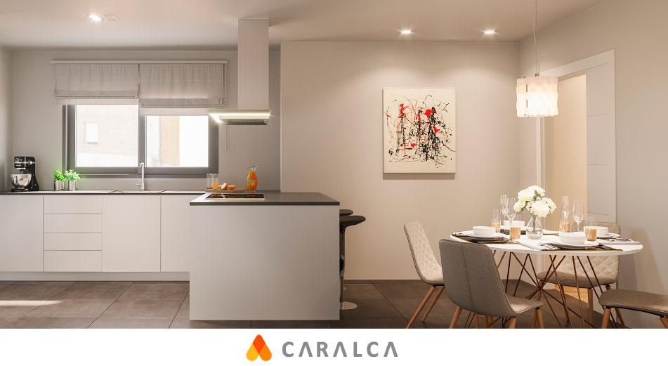 Disfruta de la amplia cocina de tu piso